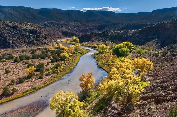Photograph -  Rio Chama River Autumn by Lou  Novick