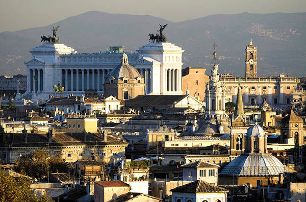 Photograph -  Rome's Rooftops by Fabrizio Troiani