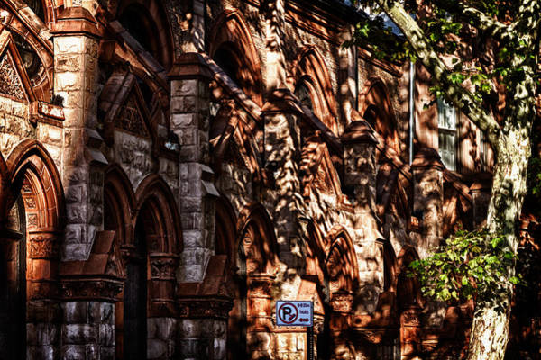 Photograph -  Shadows Play On Church Facade by Val Black Russian Tourchin