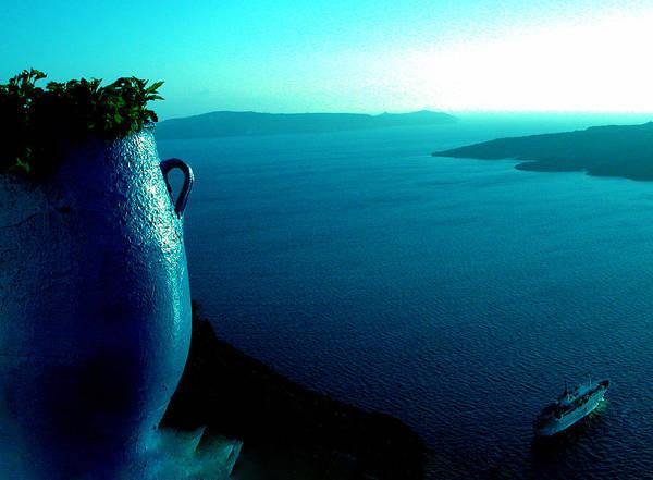 Photograph -   Silence Moment In Santorini by Colette V Hera  Guggenheim