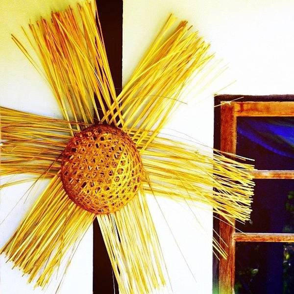 Pattern Wall Art - Photograph - * #star #basket #basketweaving by A Rey