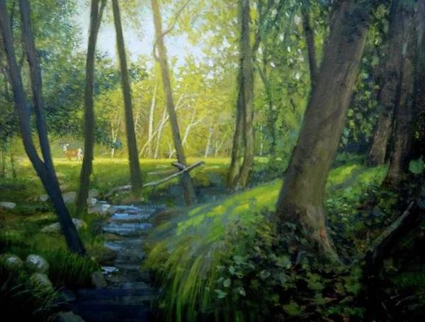 Painting -  The Silent Forest by Mel Greifinger