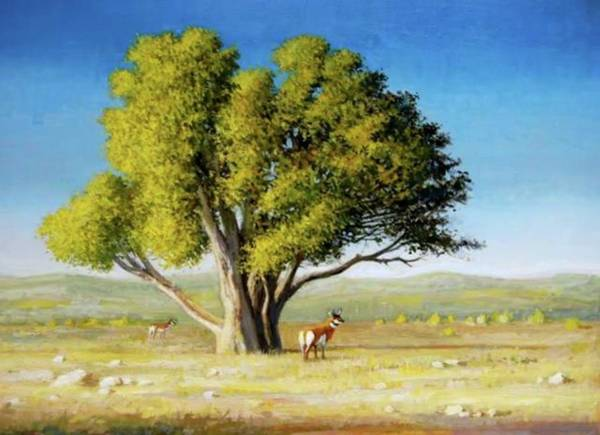 Painting -   The Tree by Mel Greifinger