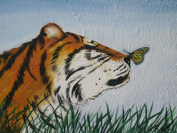 Wall Art - Painting - '' Tiger Colors'' by Mccormick  Arts