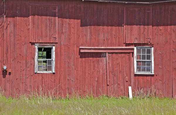 Photograph -  Weathered Red Farm Barn Of New Jersey by David Letts