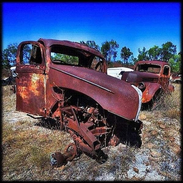 Vehicle Photograph - ... Where Old Fords Go To Die by Brian Cassey