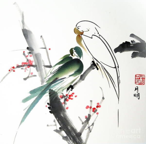 Ming Tree Painting -  Companionship by Ming Yeung