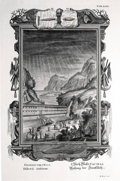 Creationist Wall Art - Photograph - 1731 Johann Scheuchzer Noah's Ark Flood by Paul D Stewart