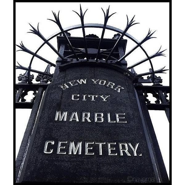 Minimalism Photograph - 1831 East Village Cemetery by Natasha Marco