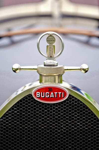 Photograph - 1923 Bugatti Type 23 Brescia Lavocat Et Marsaud Hood Ornament  by Jill Reger