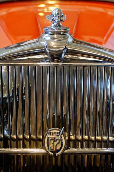 Photograph - 1933 Stutz Dv-32 Five Passenger Sedan Hood Ornament by Jill Reger