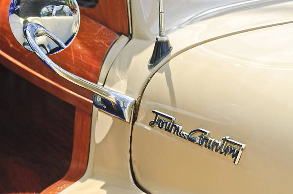 Photograph - 1948 Chrysler Town And Country Sedan Emblem by Jill Reger