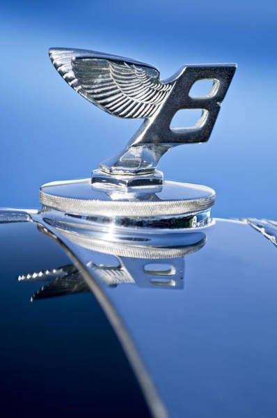 Photograph - 1950 Bentley Mk Vi Sports Saloon Hood Ornament by Jill Reger