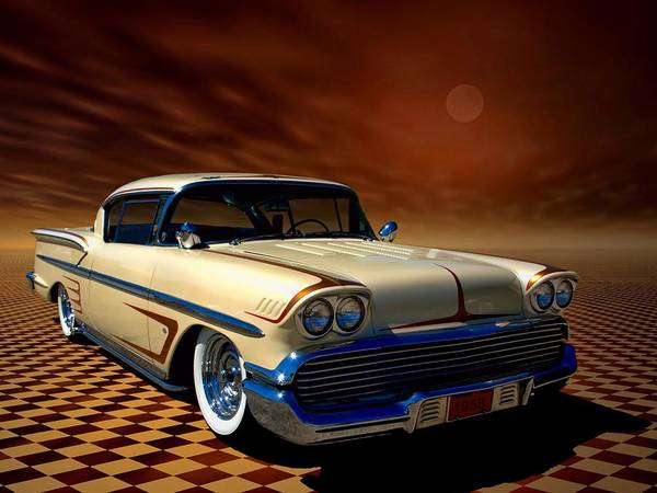 Photograph - 1958 Chevrolet Impala Custom Low Rider by Tim McCullough