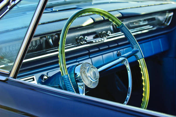 Photograph - 1961 Pontiac Catalina Steering Wheel by Jill Reger