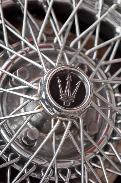 Photograph - 1972 Maserati Ghibli 4.9 Ss Spyder Wheel by Jill Reger