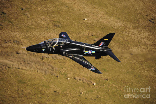 Mach Loop Photograph - A Hawk T1 Trainer Aircraft Of The Royal by Andrew Chittock