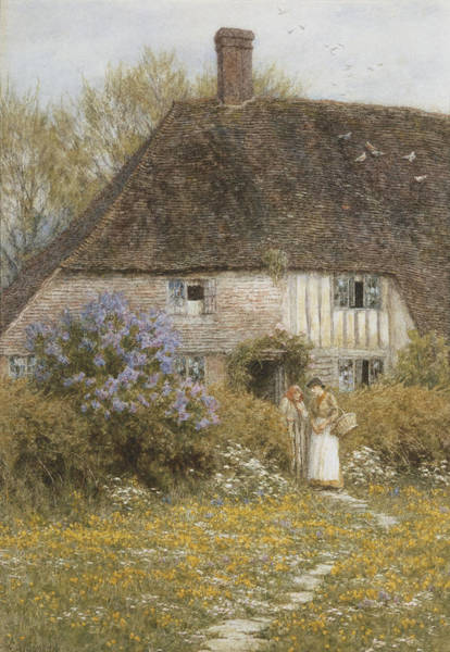 Assistance Painting - A Kentish Cottage by Helen Allingham