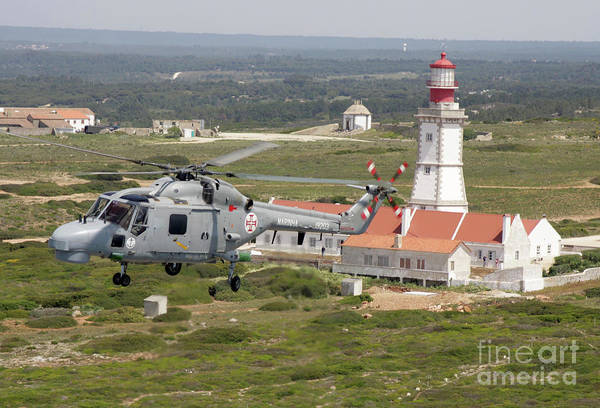 Agustawestland Photograph - A Sea Lynx Helicopter Of The Portuguese by Timm Ziegenthaler