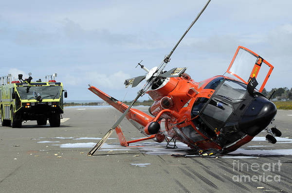 Photograph - A U.s. Coast Guard Mh-65 Dolphin by Stocktrek Images