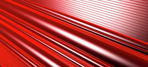 Horizontal Digital Art - Abstract Line Pattern by Ralf Hiemisch