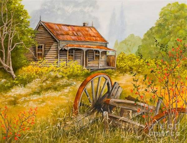Painting - All That Remains by Val Stokes