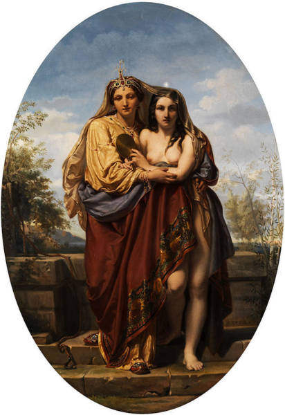 Sacred Heart Wall Art - Painting - Allegory Of Truth And Beauty by  Felix Fossey