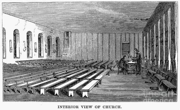 Amana Wall Art - Photograph - Amana, Iowa: Church, 1875 by Granger