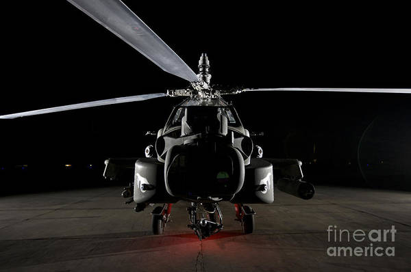 Taxiway Wall Art - Photograph - An Ah-64d Apache Longbow by Terry Moore