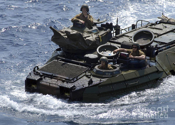 Aav Photograph - An Amphibious Assault Vehicle by Stocktrek Images