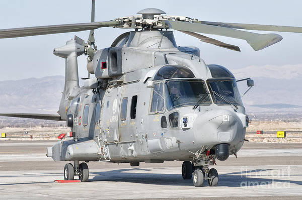 Utility Aircraft Photograph - An Italian Navy Eh101 Helicopter by Giovanni Colla