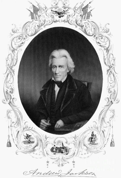 Photograph - Andrew Jackson (1767-1845) by Granger