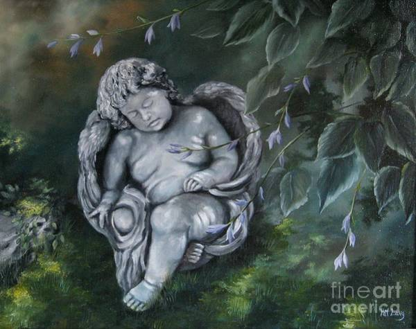 Wall Art - Painting - Angel In The Garden by Patricia Lang