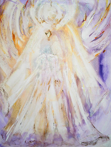 Angelic Beings Painting - Angel Of Illumination by Kim Layton