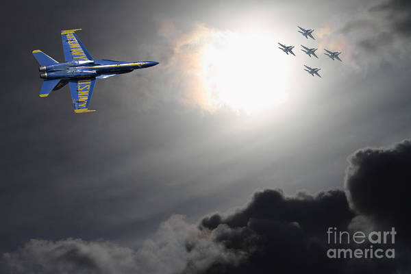 Angels In The Sky Art Print by Wingsdomain Art and Photography