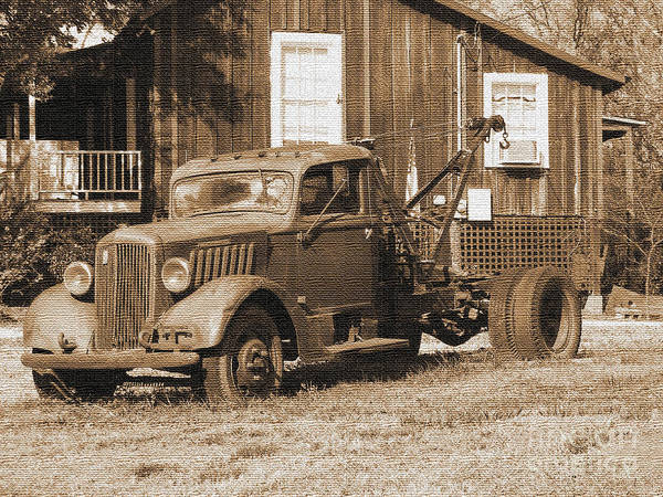 Photograph - Antique Tow Truck by Barbara Bowen