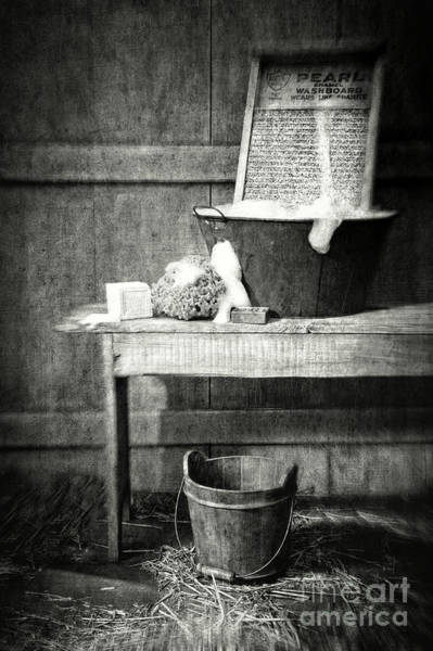 Photograph - Antique Wash Tub With Soaps by Sandra Cunningham