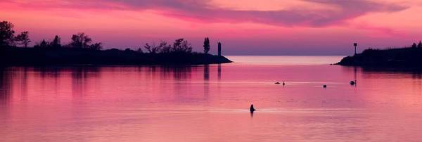 Lake Sunset Photograph - Arcadia Lake At Sunset by Twenty Two North Photography