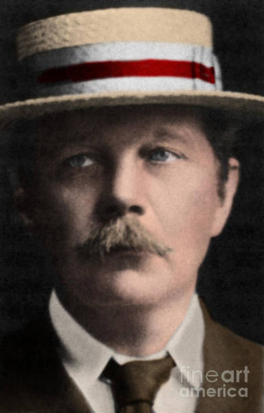 Conan Photograph - Arthur Conan Doyle, Scottish Author by Science Source