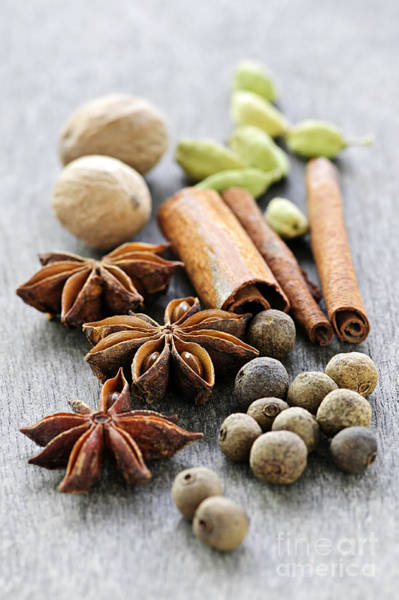 Flavours Wall Art - Photograph - Assorted Spices by Elena Elisseeva
