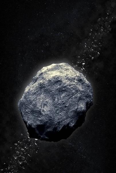 Light And Shadow Digital Art - Asteroid, Artwork by Andrzej Wojcicki