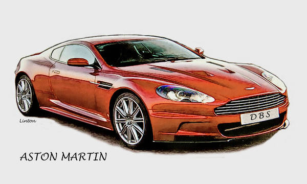 Digital Art - Aston Martin by Larry Linton