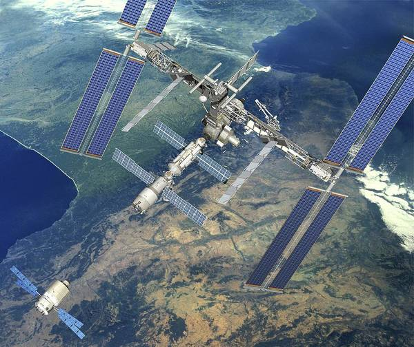 Atv Photograph - Atv Approaching The Iss, Artwork by David Ducros