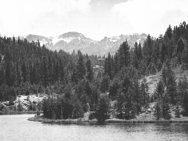Photograph - August Snows In The Sierras by Frank Wilson