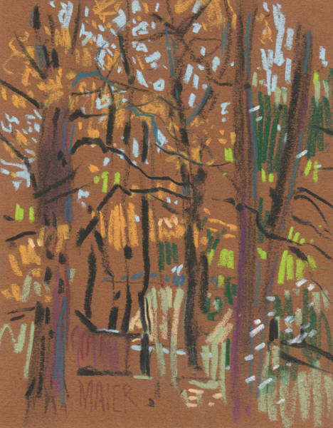 Thumbnail Painting - Autumn Gold by Donald Maier