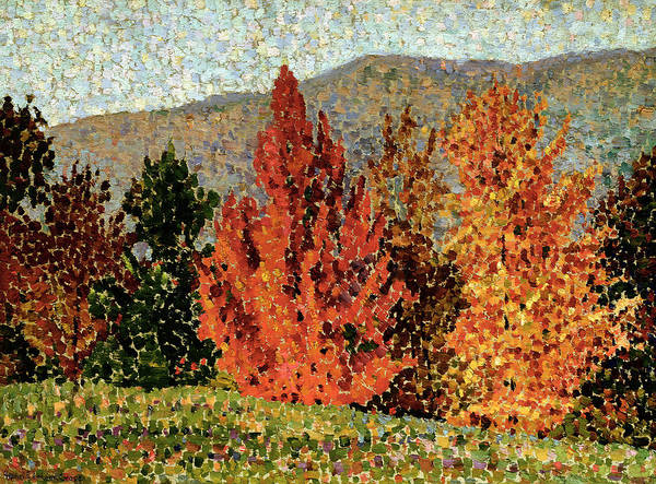 Turning Painting - Autumn Landscape by Henri-Edmond Cross