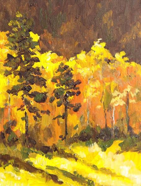 Flagstaff Painting - Autumn Splendor by Sandy Tracey