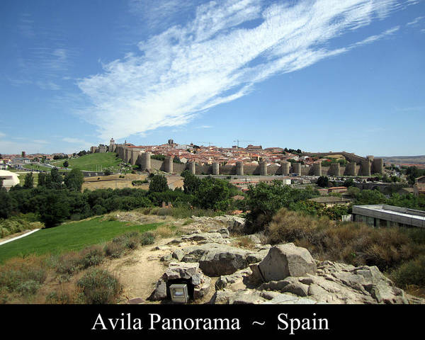 Photograph - Avila Panorama Spain by John Shiron