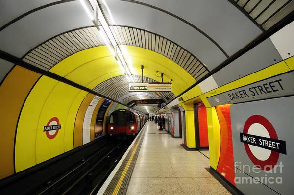 Wall Art - Photograph - Baker Street Underground Station  by Liz Pinchen