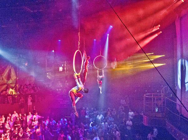 Trapeze Photograph - Balancing Act by Douglas Barnard
